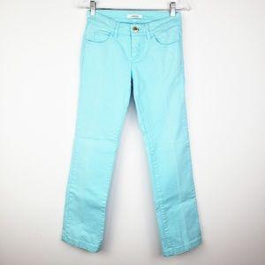 Gianni Versace Blue Aqua Color Straight Jeans